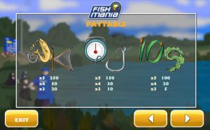 Maxbet mobile casino slot game fish mania paytable 1