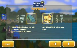 Maxbet mobile casino slot game fish mania paytable 3