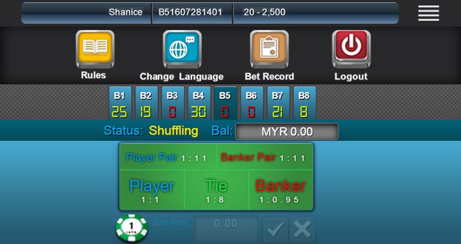 Maxbet mobile game live dealer baccarat