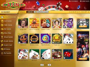 Maxbet casino game lobby