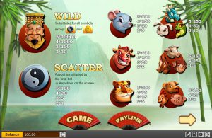 Maxbet casino slot chinese zodiac wild and scatter symbols