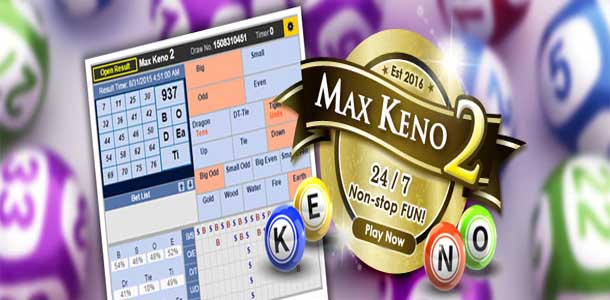 maxbet max keno feature